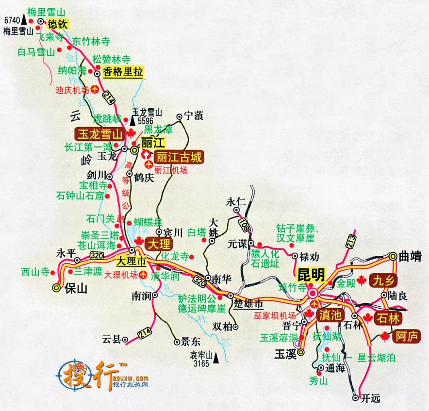 云南到越南地图